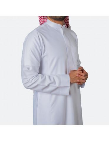 Classic Premium Thobe White (Zip)